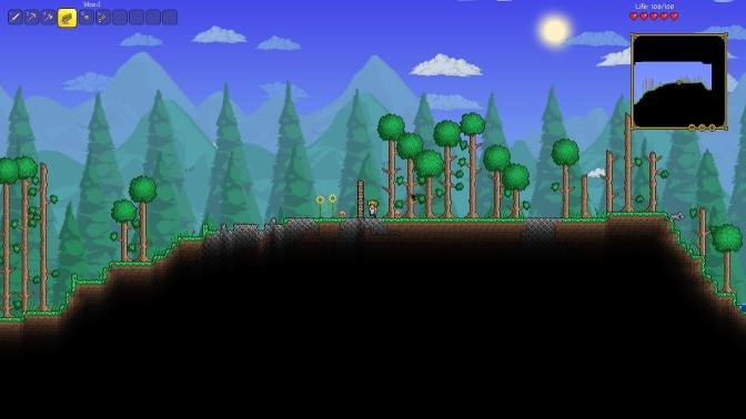 Terraria, the original 2D Minecraft