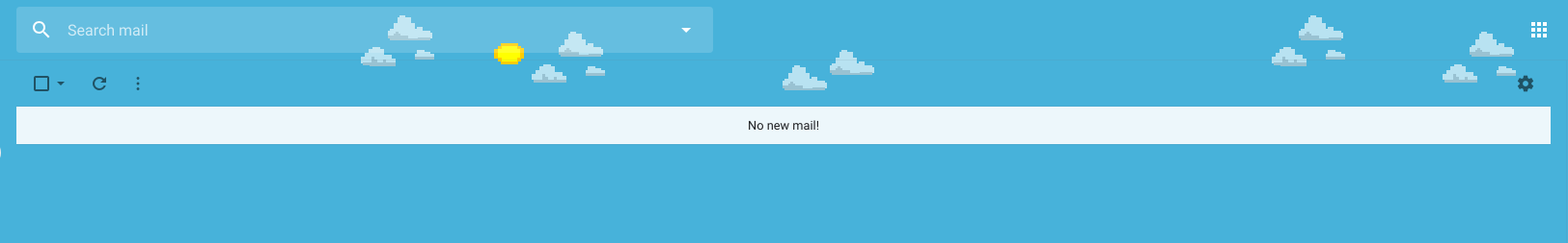 When all your emails are archived, Gmail shows this.