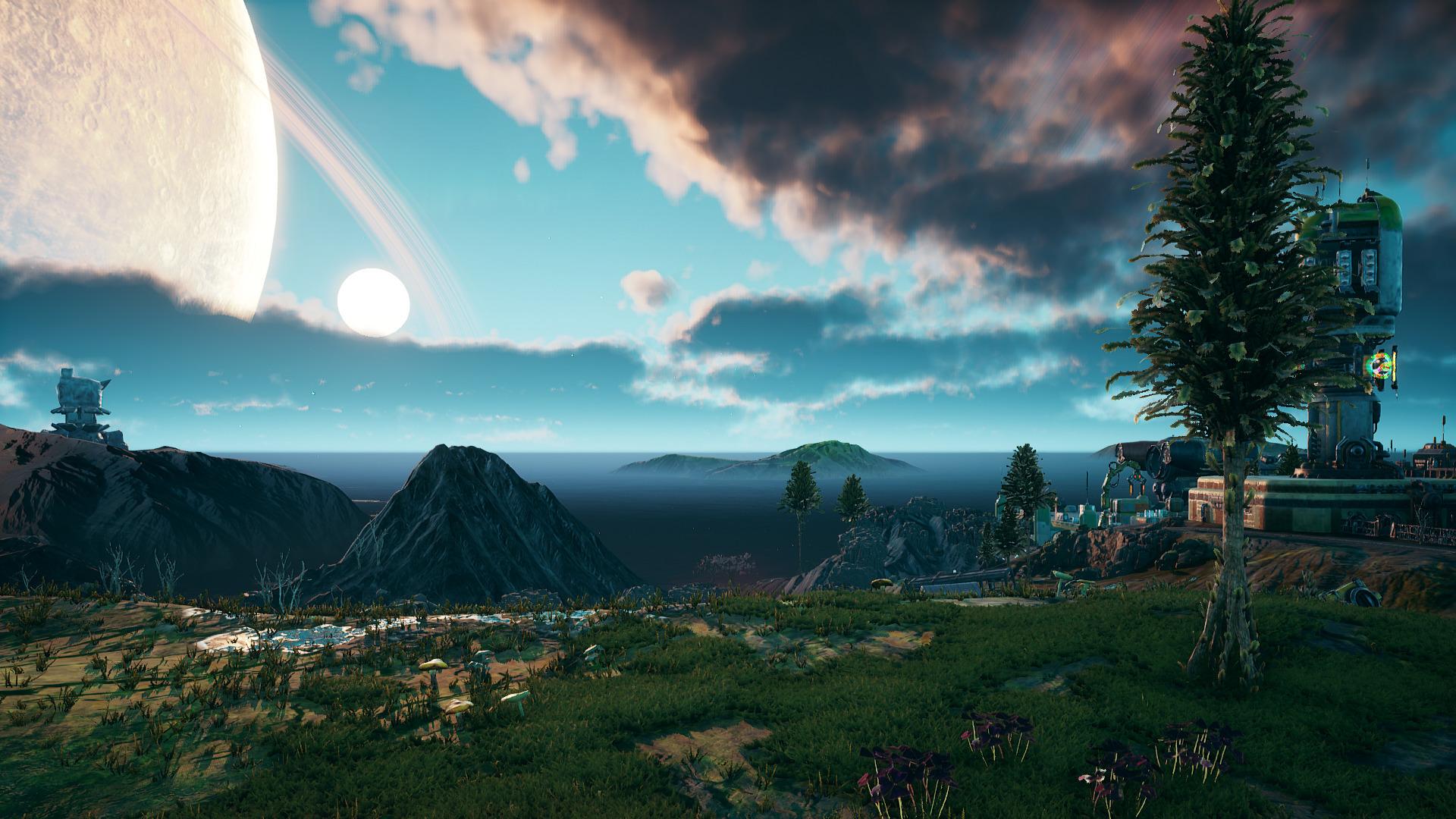 Sunrise in Emerald Vale on Terra 2.