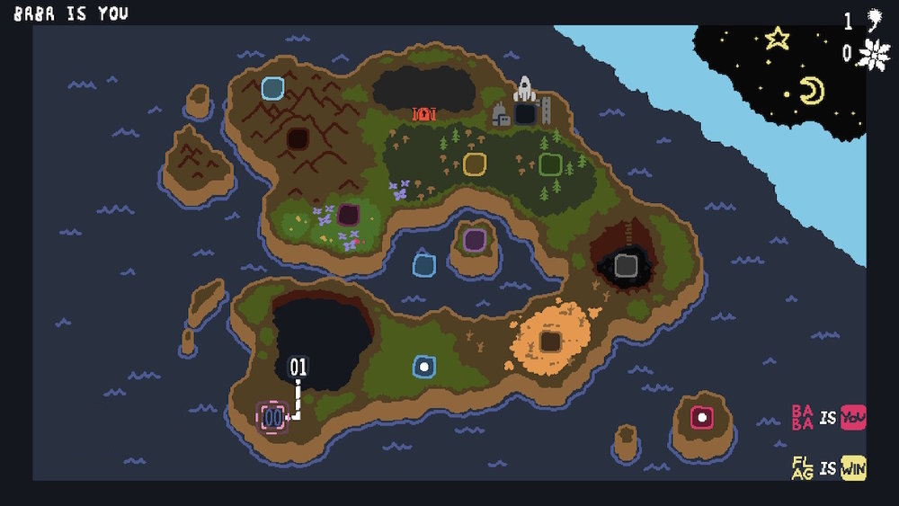 The overworld and its many areas.